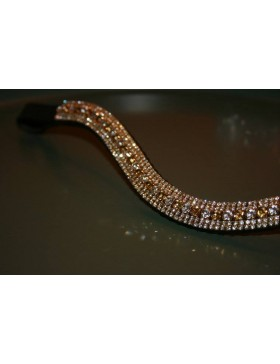 Frontal strass argent et or WWF