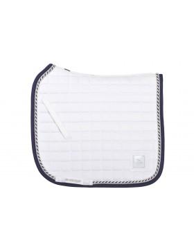 Tapis de selle SD Design - Blanc bord marine