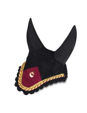 Bonnet anti-mouches Equito - Noir/Bordeaux