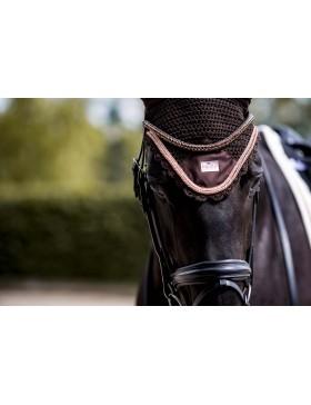 Bonnet anti-mouches Equito - Marron/Rose Gold