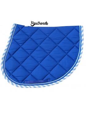 Tapis de selle Rg Italy - Bleu roi bord vichy bleu