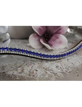 Frontal strass blancs et bleu roy