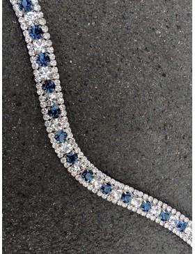 Frontal cristaux argent et marine