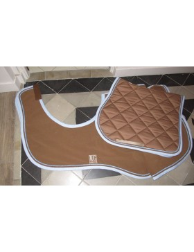 Couvre-reins polaire RG Italy - Camel bord ciel