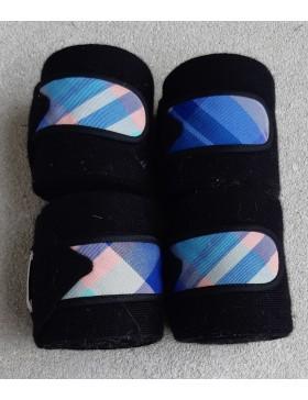 Bandes de repos Rg Italy - Bleu marine scratch écossais bleu/rose